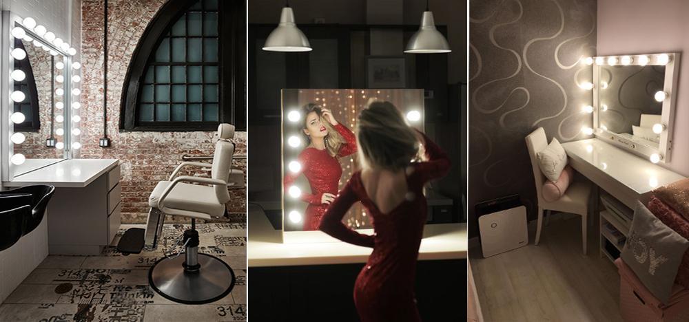 Варианты гримерных зеркал с подсветкой