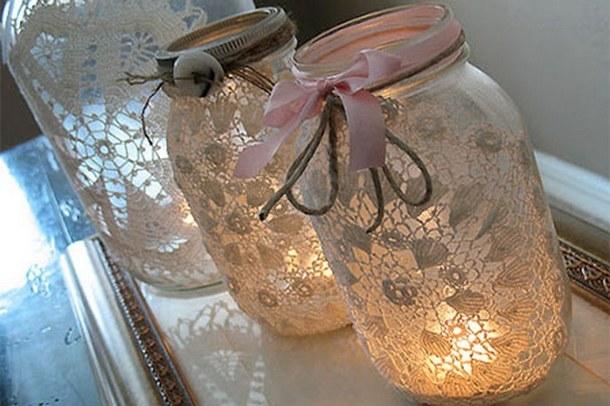 Светильники из трехлитровых банок
