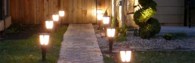 Подсветка садовой дорожки