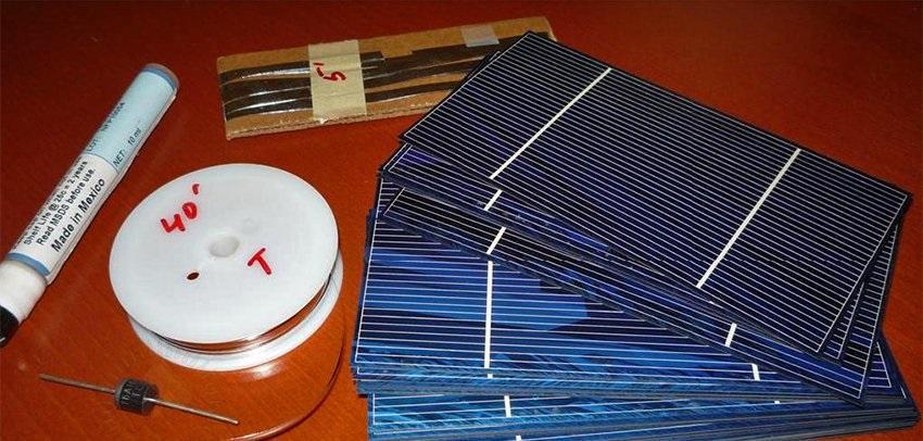Детали для изготовления фонаря на солнечных элементах