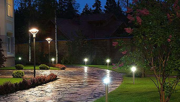 Освещение с использованием фотореле
