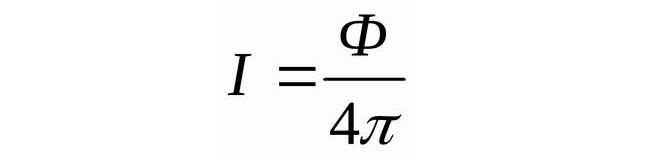 Формула силы света