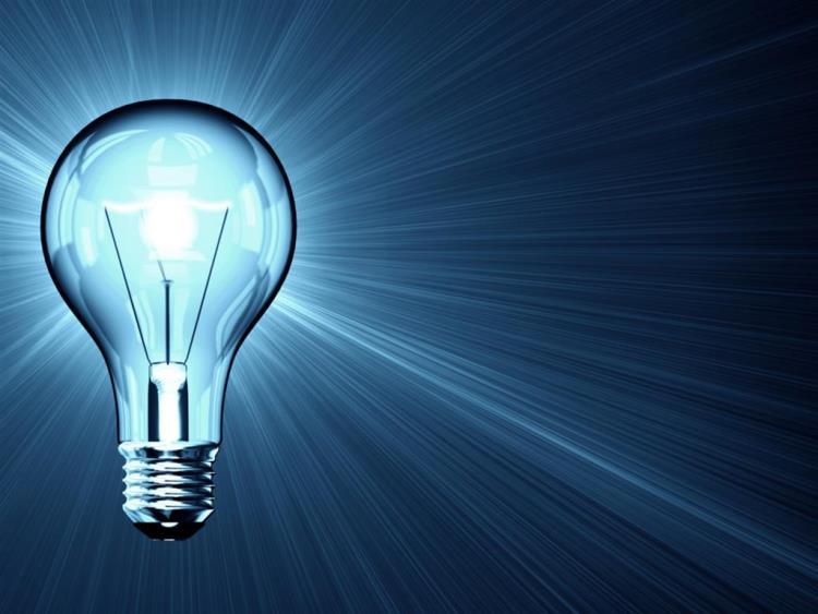 Световое излучение от лампочки