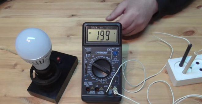 Диагностика лампы с помощью мультиметра