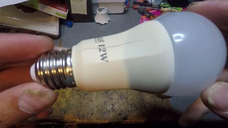 Трещина на лампе