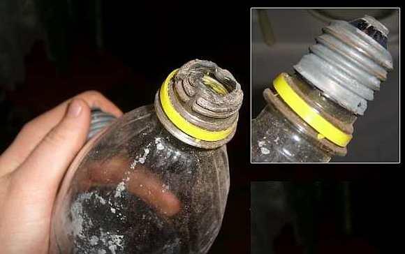 Использование пластиковой бутылки