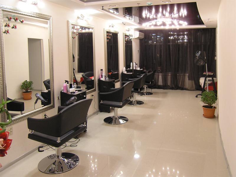 Освещение зала парикмахерской