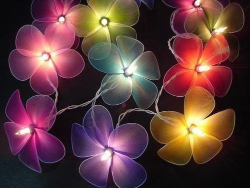 Цветы с осветительными элементами