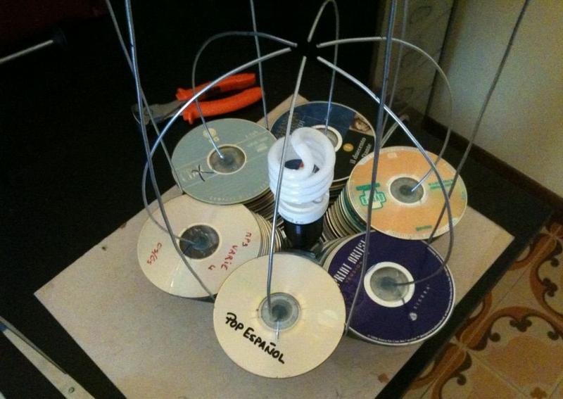Нанизывание дисков на каркас