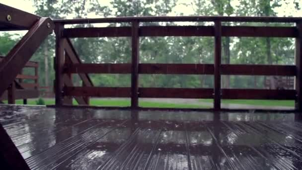 Дождь на террасе