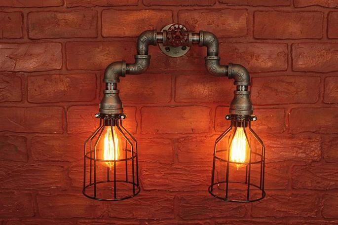 Лампа в промышленном стиле
