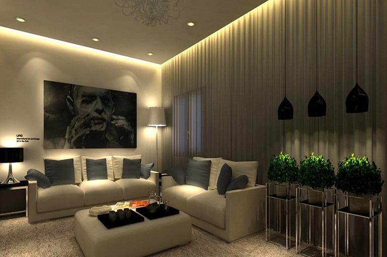 Гостиная со светодиодной подсветкой