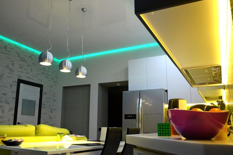 Использование светодиодной ленты