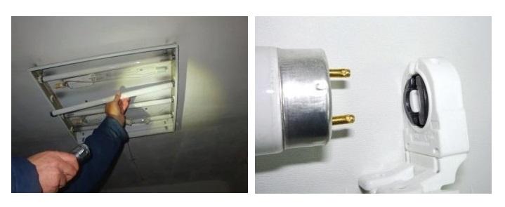 Схема замены люминесцентной лампы