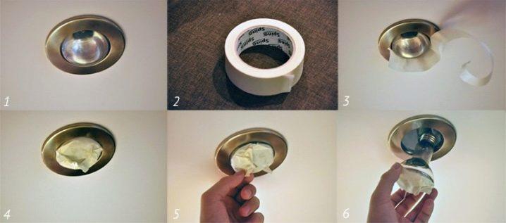 Замена галогенной лампы в потолке