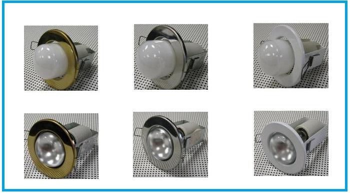 Виды ламп в точечных светильниках